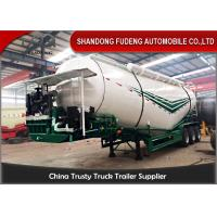 3 Axles Bulk Cement Tanker 30-75 CBM  Mechanical / Air / Bogie Suspension Manufactures