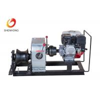 3 Ton Petrol Gas Engine Powered Winch 1 Year Warranty For Power Construction Manufactures