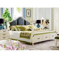 China Room Furniture Bedroom Set Latest Wood Double Bed Design With Storage Box on sale