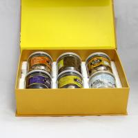 China Eco-friendly Yellow Magnetic Recycled Paper Gift Boxes for Food , Tea ,  Dried Fruit on sale