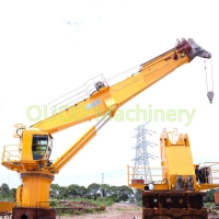 8t Offshore 30m Deck Ship Telescopic ABS Crane Grab Bucket Manufactures