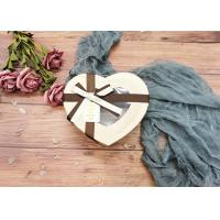 Special Chocolate Flower Cardboard Box Packaging Heart Shaped With Window Manufactures