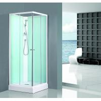 Square Bathroom All Glass Shower Enclosures PVC Middle Panel White Back Painting Manufactures