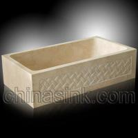 Quality Galala marble carving farm sink for sale