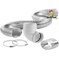 Smooth Aluminium High Temperature Flexible Duct Semi Rigid Easy Installation Manufactures