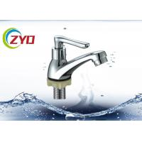 Water Saving Push Handle Sink Water Tap , Strong Inner Core Single Tap Faucet Manufactures