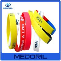 Custom brand logo personalized silicone bracelets with cheap price Manufactures