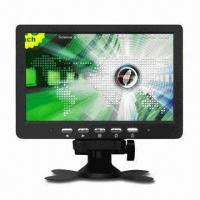 400:1 7-inch CCTV LCD Monitor with VGA Input, TV Functions, Supports Up to 1,024 x 768P Resolution Manufactures