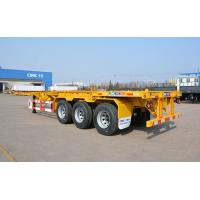 Container Wide Flatbed Trailer 40 Foot Triple Axle Trailer With Fender Manufactures