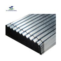 China Beautiful Appearance Galvanised Corrugated Roofing Sheets Metallic Color Fast Construction on sale