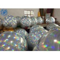 China Airtight double layer inflatable chrome ball/ Disco Inflatable Mirror Balloon for party for sale