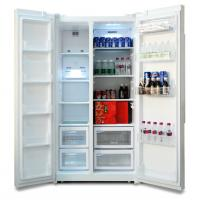 R600A Automatic Defrost 200L Double Door Refrigerator for Commercial Use Manufactures
