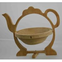 China Tea Bamboo Wooden Folding Collapsible Fruit Basket on sale