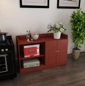 China Stand Alone Kitchen Cabinet Furniture , Kitchen Storage Cabinet For Interior on sale