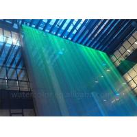 Optional Fiber Water Curtain Indoor Water Fountain With Beautiful Rgb Lightings Manufactures