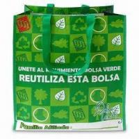 RPET Green Leaf Shopping Bag with OPP Film and Matte Lamination Manufactures