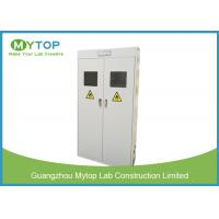China Safety Fireproof Lab Gas Cylinders Storage Cabinets With Gas Leaking Alarm on sale