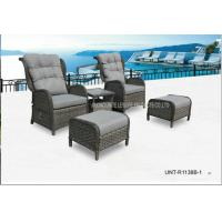 Adjustable Outdoor Lounge Chairs , Rattan Garden Chairs With Cushion Manufactures