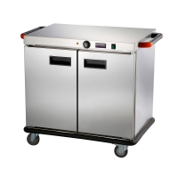 China EWC-4S Electric Warmer Cart Commercial 2 Doors 4 Layers Food Warmer Delivery Cart on sale