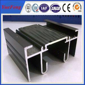 Aluminium sigma profile, black anodizing aluminum extrusion for sales Manufactures