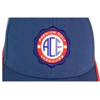 ACE 6 Panels Unisex Custom Stagger Color Rubber Patch Craft Logo with Velcro Closure Buckle Baseball Sports Cap Hat Manufactures