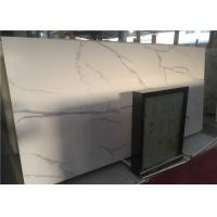 China Calcutta White Marble Bathroom Vanity Countertops Low Water Absorption on sale
