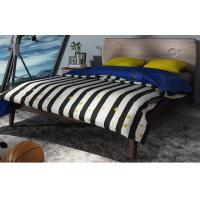 Quality 2017 New design Upholstered Bedroom furniture By Italy Leather and Walnut solid for sale