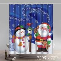 China snowman shower curtain,polyester shower curtain waterproof on sale