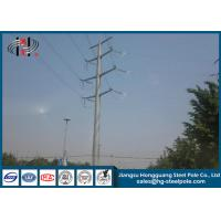China Communication Burial Type Electric Power Pole 40FT High Hot Dip Galvanized on sale