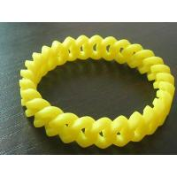 Buy cheap Weave silicone bracelets with PVC or Metal charms from wholesalers