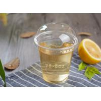 China 8oz Clear PET Disposable Plastic Juice Cups with lids on sale