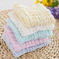 Anti Bacterial Pure Muslin Face Washcloths Towel Baby Wipes Solid Color Manufactures