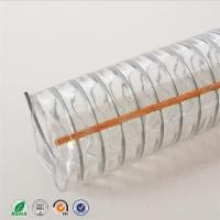 Transparent PVC coated flexible wire steel hose /discharge water hose/ steel wire reinforced spring pvc hose pipe Manufactures