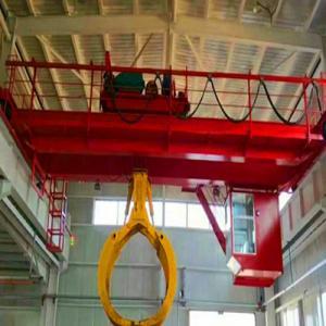 QZ Type Workshop Garbage Grab Overhead Bridge Crane For 1 Years Warranty Manufactures