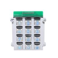 China Chinese cheapest 3X4 matrix die cast keypad with back blue led lighting on sale