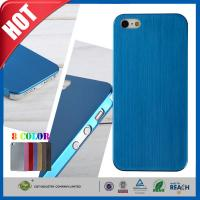 Blue Ultra Thin Brush Shockproof Non Slip Cell Phone Carrying Case for Iphone 5 5s