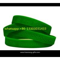 High quality wholesale your design promotional silicone wristbands/bracelets Manufactures