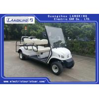 China White 6 Passenger Golf Cart With 48V 3KW Motor 6V * 8 PCS Battery / Electric Club Car on sale