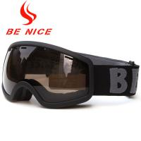 Windproof UV400 Kids Snow Goggles TPU Frame PC Lens With Three Layer Foam Manufactures
