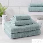 100% Cotton Textured Bath Towel Set of 6 Soft Luxurious Bathroom Towels Manufactures