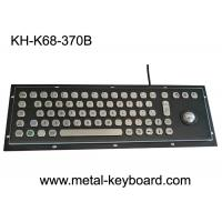 Black Metal Stainless steel Industrial Mounted Keyboard with Trackball Pointing Device Manufactures