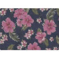 Wonderful Flower Printed 100 Cotton Denim Fabric Luxury Outdoor Fabric Manufactures