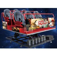 Hydraulic Amusement Park 5D Cinema Theatre 6 / 9 / 12 Seats With Virtual Reality Controller Manufactures