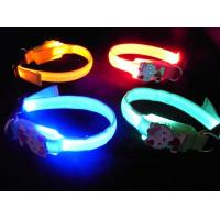 Quality 2012 Latest Custom Woven Twin LED Flashing Dog Collar for sale