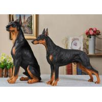 Resin Material Simulation Dog For Garden Decoration / Home Security Manufactures