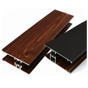 Dark Brown Imitation Grain Wood Finish Aluminium Profiles For Decoration Manufactures
