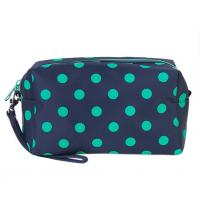 Multi Colored Compact Zipper Pencil Bag Ladies Cosmetic Pouch Polyester Manufactures