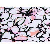 China Eco - Friendly Polyester Jersey Fabric / Printing Poly Knit Fabric Breathable on sale