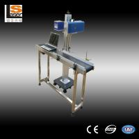 High Precision CO2  Flying Laser Marking Machine For Packing Box / Plastic Button Manufactures