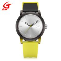 China Plastic Case Silicone Sports Watch , Yellow Quartz Japan Movt Womens Watch on sale